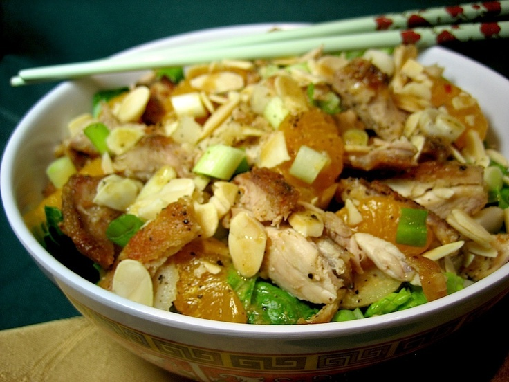 Lemon Ginger Honey Chicken Almond Salad | Salad & Slaw Recipes | Pint ...