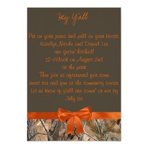 This Is Great For Camo Wedding Invitation Camo Wedding Invitation Yes