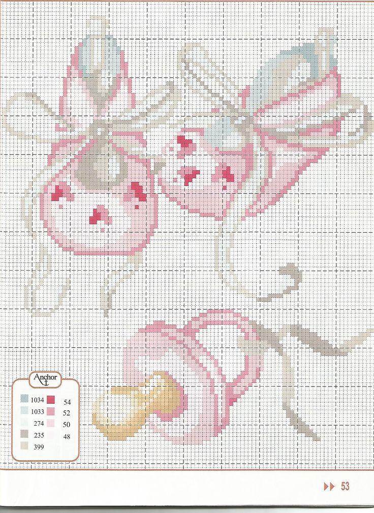 Вышивка крестиком схема для новорожденных 260