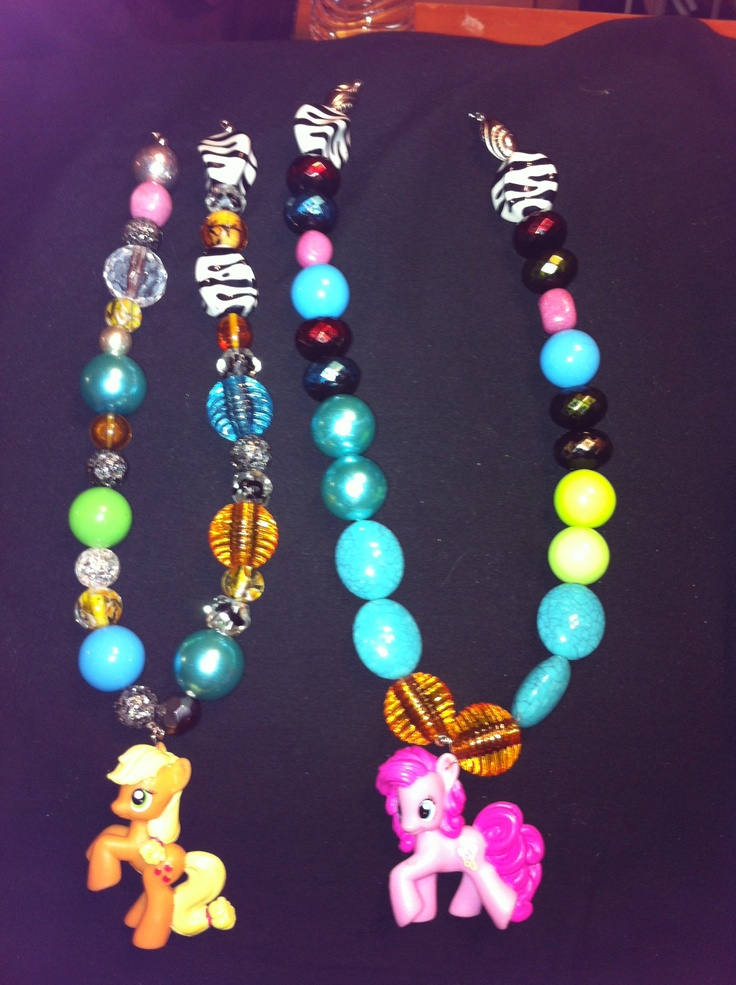 My little pony necklaces made by jakelyn and joslyn 6& 7 ... Jakelyn