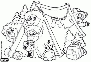 Playing Outside Coloring Pages