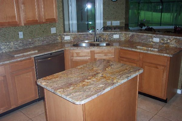 Kitchen Pic Typhoon Bordeaux Granite Taken For Granite