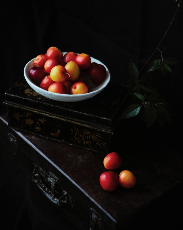 plums from our neighbour