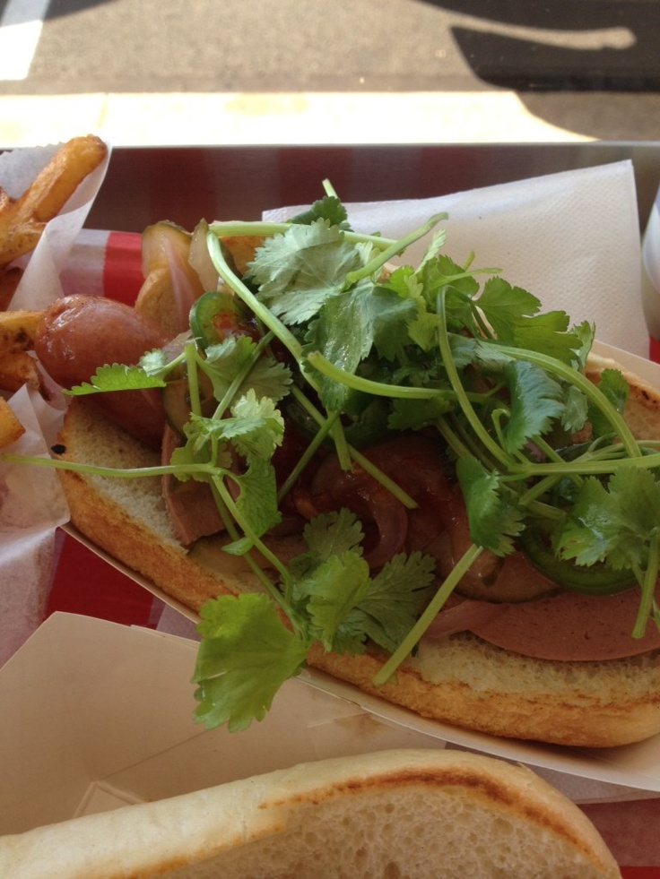 Banh Mi Dog from Station Street Hot Dogs | Food, here I come!!! | Pin ...