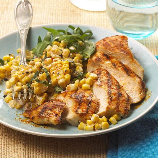 Grilled chicken and creamy corn chicken recipes pinterest for Good side dishes for grilled chicken