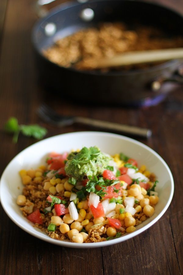 Cauliflower Rice Burrito Bowls: Just change the corn and even the ...