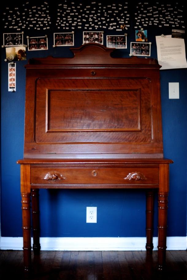 gorgeous fold down antique desk Antique desks