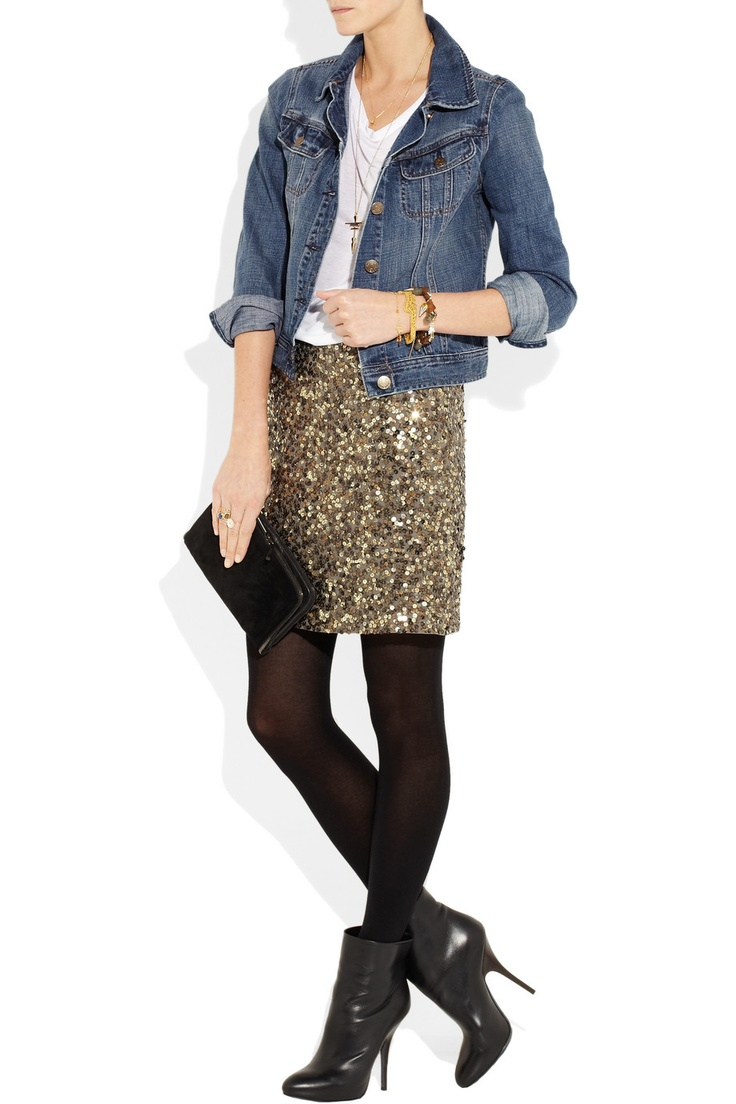 Dressed-up casual... I need a sequin skirt