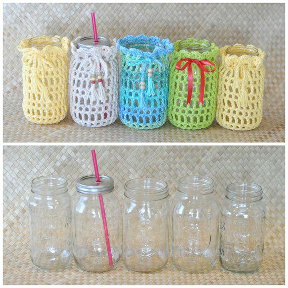 PDF Mason Jar Cozy Crochet Pattern