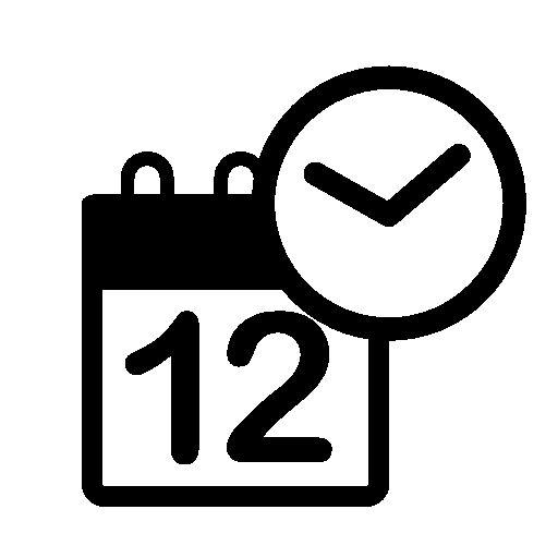 Calendar clock free icon | Free flat icons | Pinterest: pinterest.com/pin/307511480779027356
