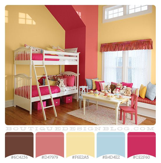 Girls room color scheme color pinterest for Colors for a girl room
