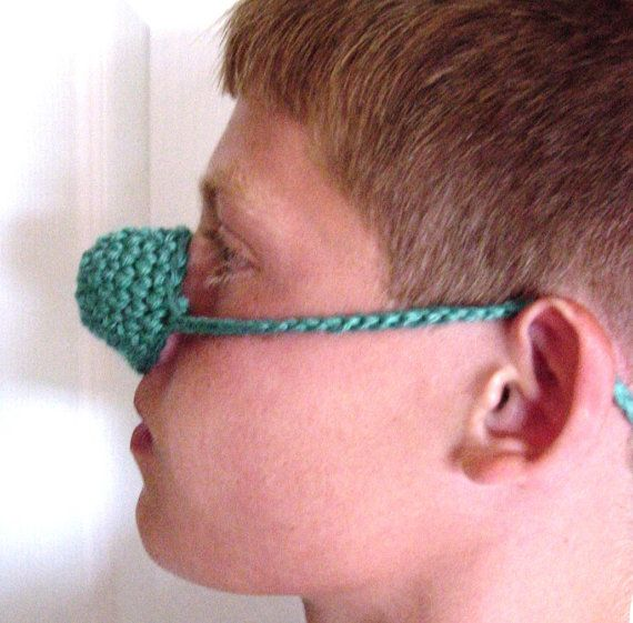 Crochet Nose Warmer : Can you BELIEVE it?? Hand crocheted NOSE WARMER Mitten COZY Wool & by ...