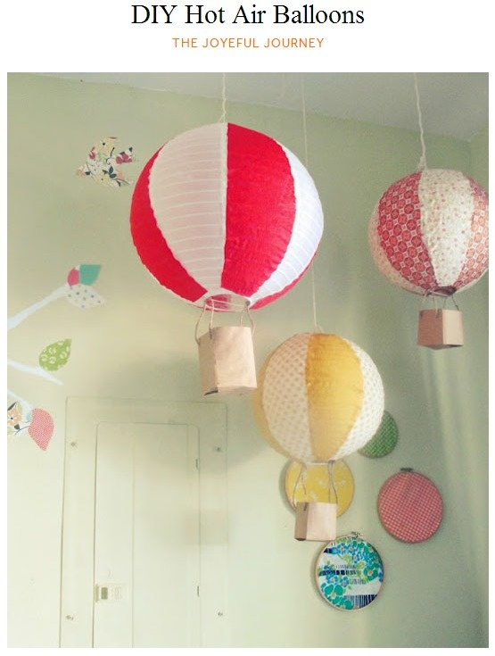 Diy Hot Air Balloons The Joyeful Journey