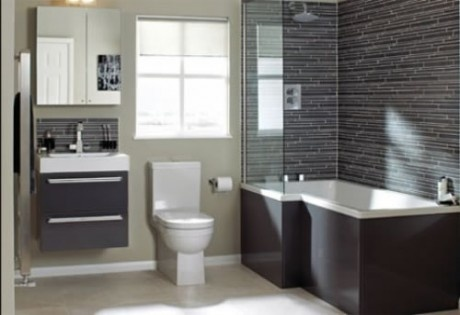 Deep Tub Shower Combo With Wall Partition For The Home Bathroom Pinterest