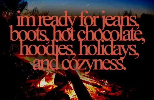 So ready! Fall and winter are my favorite seasons.