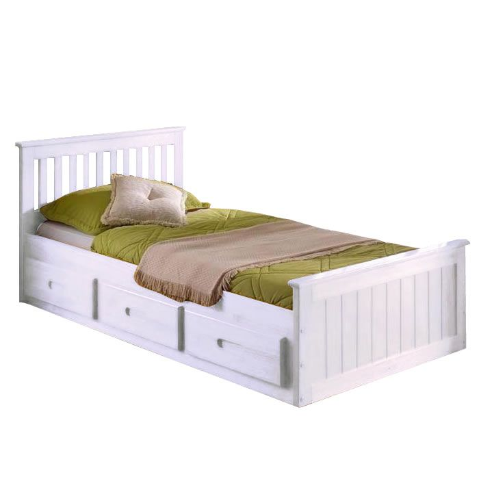White Bed with Storage 700 x 700