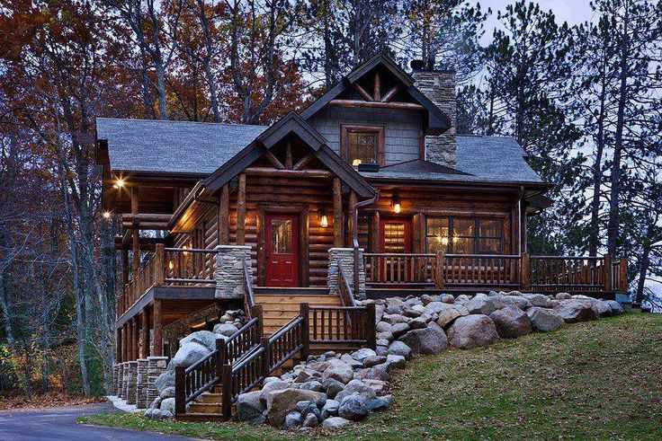 Pretty Cabin Style House Dream Homes Pinterest