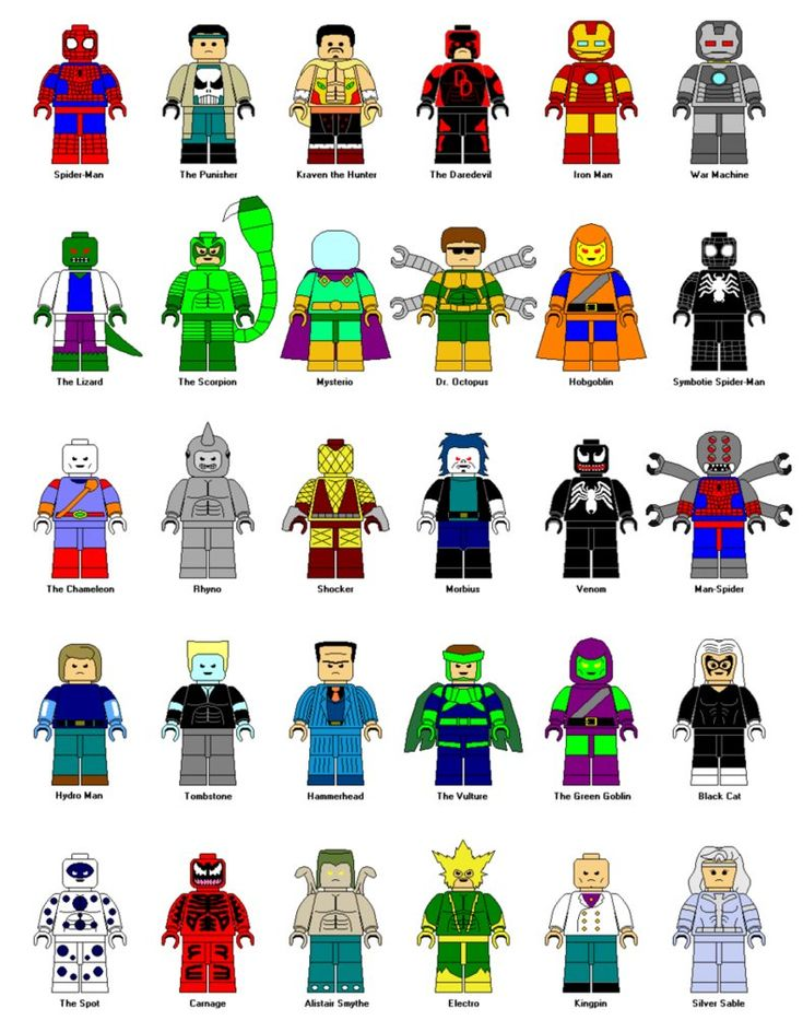 Pre i 2012 138 5 4 lego spider man characters by gamekirby d28l4l1