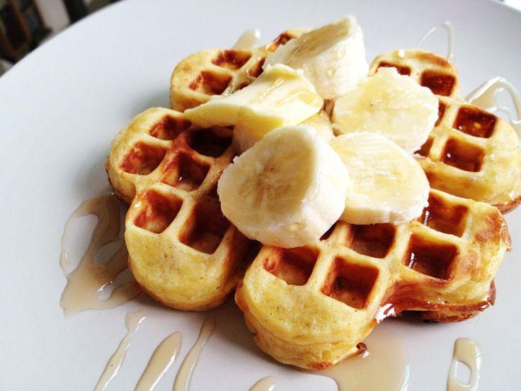 Banana Egg Waffles