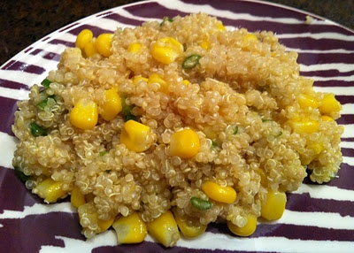quinoa with corn, scallions and lemon dressing