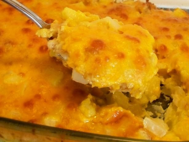 Cheesy Zucchini Casserole from Food.com: Mmm... buttery bread cubes ...