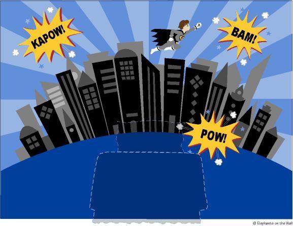 The gallery for superhero cityscape mural for Batman cityscape wall mural