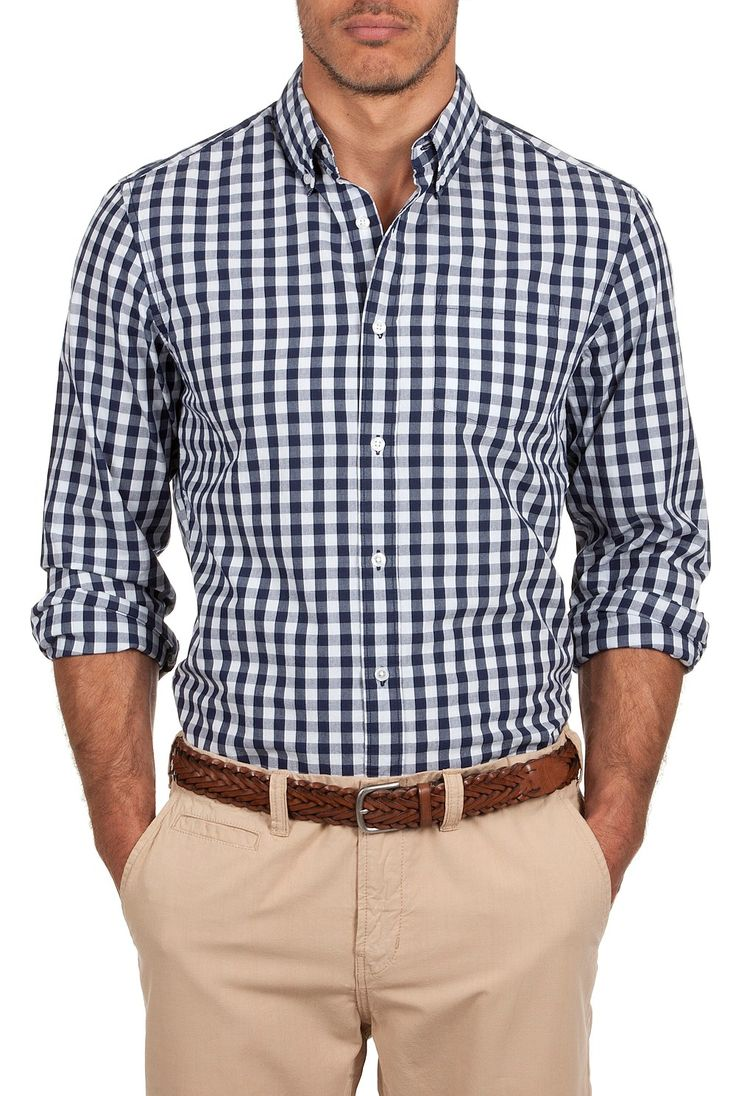 Country Road indigo gingham shirt. | The Professional You ...