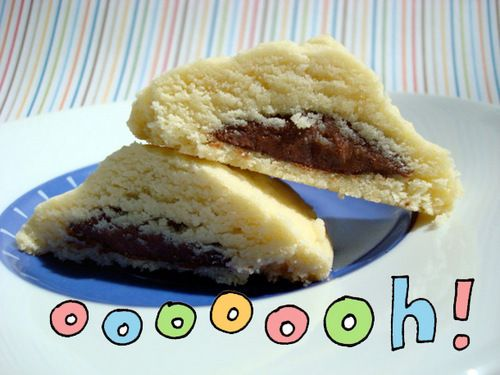 Nutella-Filled Shortbread Cookies