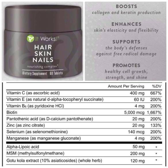 Hair, skin and nails!! | It Works Body Wraps! | Pinterest