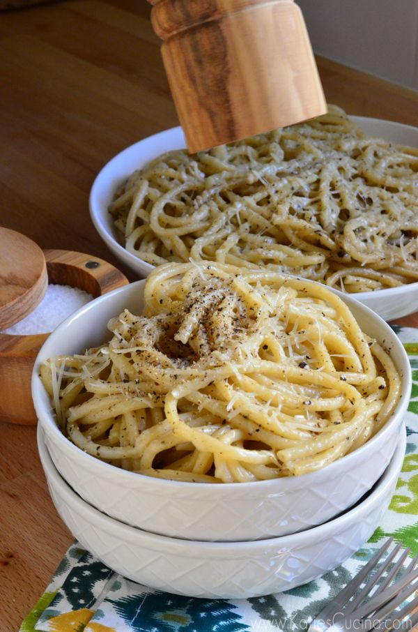 Cacio E Pepe - Fresh pasta with salt, pepper and pecorino cheese ...