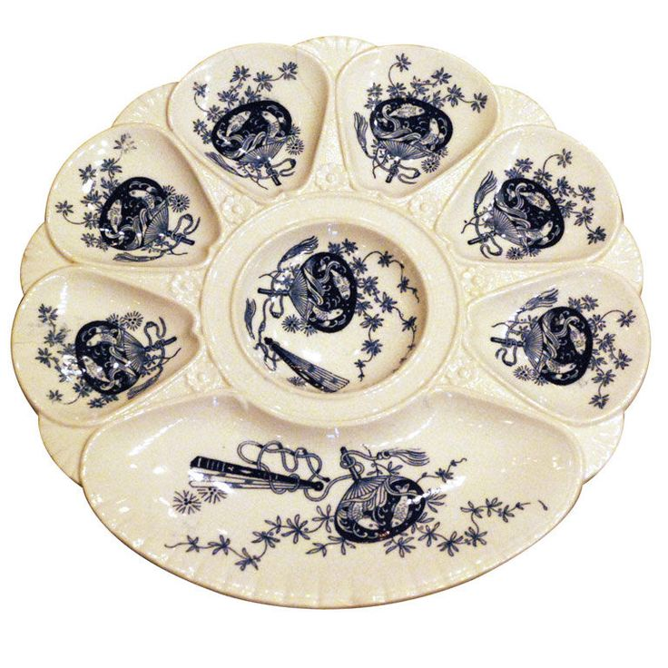 Antique English Oyster Plate