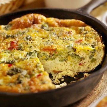 Broccoli Cheddar Frittata #MercEatLocal | Food | Pinterest