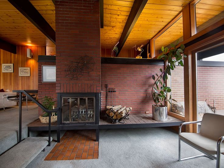 Mid Century Modern Denver Home Fireplaces Pinterest