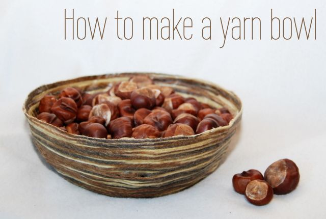 How to make a yarn bowl
