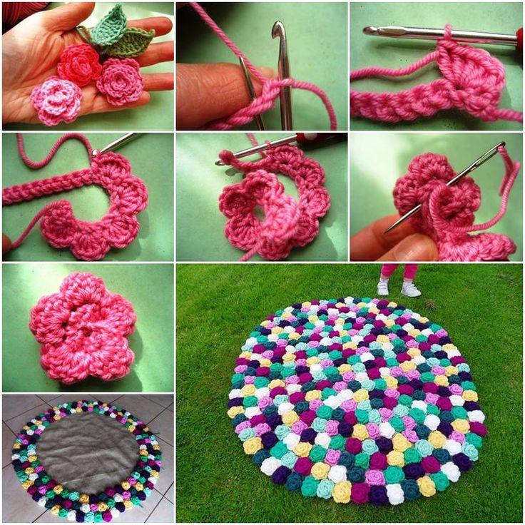 Crochet Rose Pattern Step By Step : Pinterest