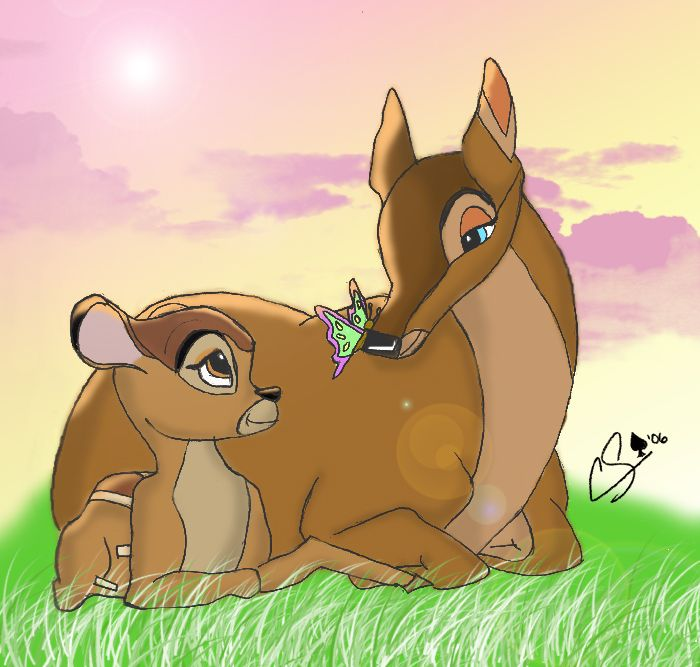 Bambi-A Moment With Mother by Superchica.deviantart.com