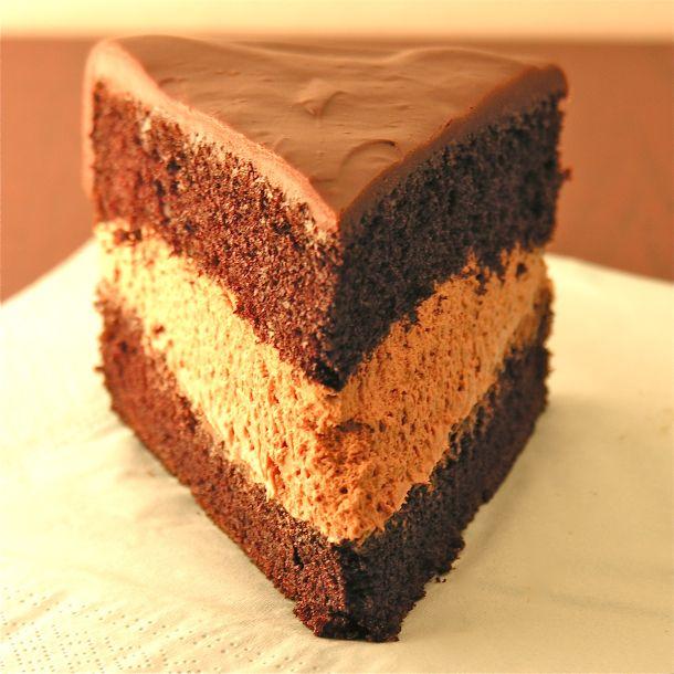Chocolate Mousse Cake ~http://easybaked.net/tag/fancy-dessert/