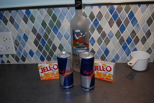 use grey goose in the jello shots, but I needed mandarin orange vodka ...