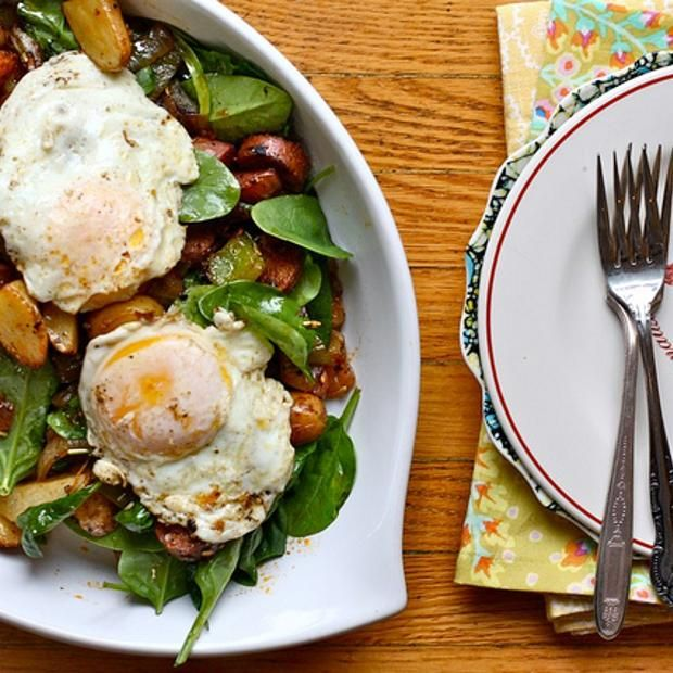 Spinach And Potato Breakfast Hash | FOR ME! | Pinterest