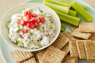 Creamy Cobb Salad Dip - Really good dip especially if you have time to ...