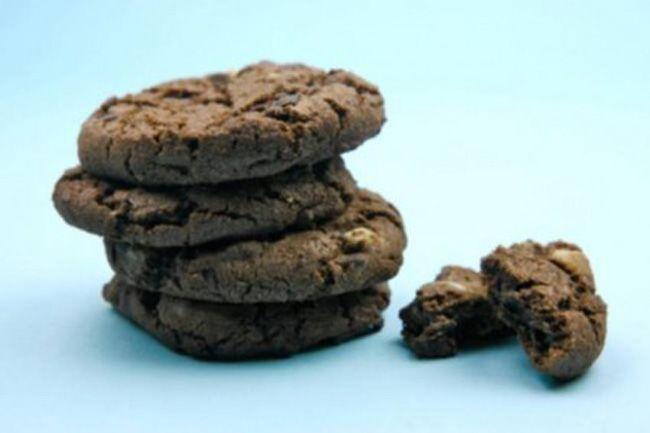 Flourless Double-Chocolate Pecan Cookies Recipe — Dishmaps