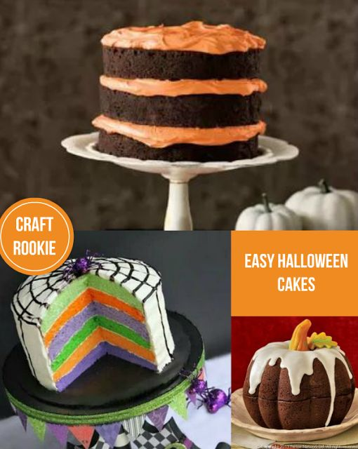Craft Rookie Easy Halloween Cakes Favorite Recipes