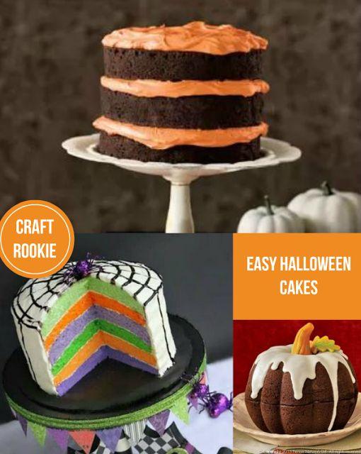 Craft rookie easy halloween cakes favorite recipes for Easy halloween cakes to make at home