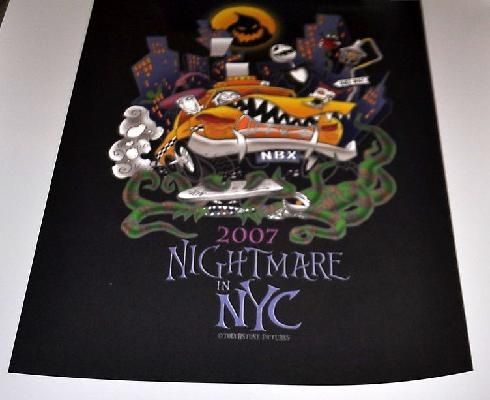NYC Nightmare Christmas LE Poster | Nightmare Before Christmas | Pint ...