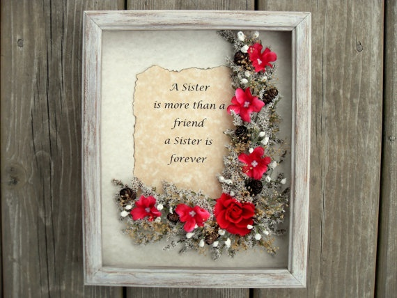 Custom Gift For Sister Distressed Wood Picture Frame Personalized ...