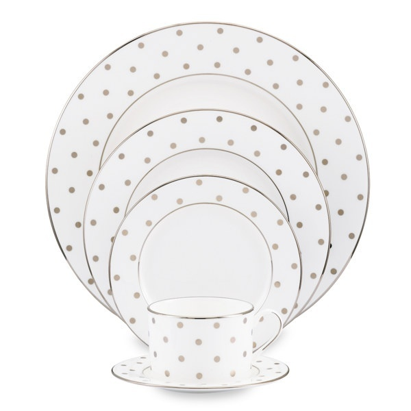 kate spade new york dinnerware gold dot place settings