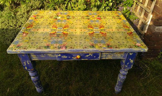 Farm House Kitchen Table Distressed Chippy Paint
