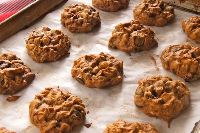 Trail Mix Peanut Butter Cookies; only four ingredients.