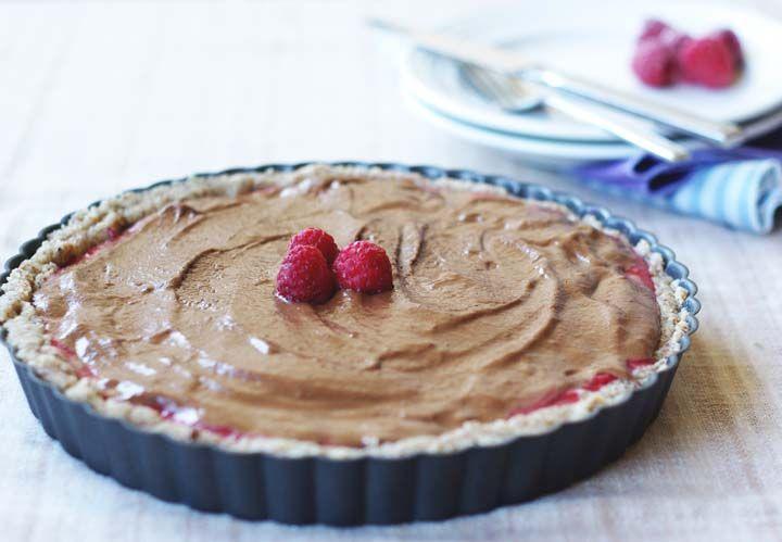chocolate almond and raspberry tart recipe food to love tart chocolate ...