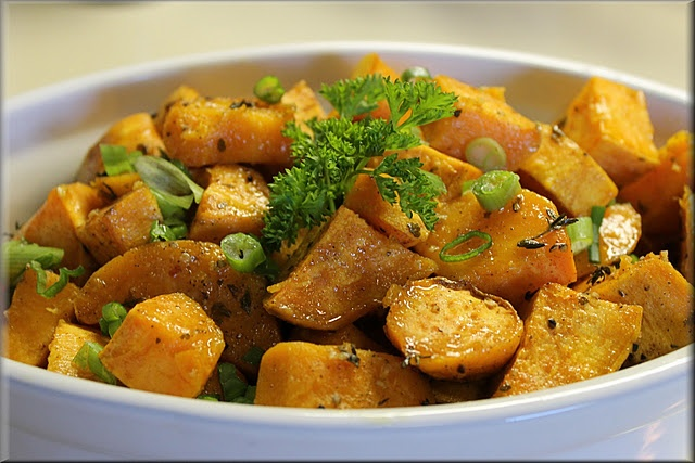 Herb Roasted Sweet Potatoes | Food & Drink | Pinterest